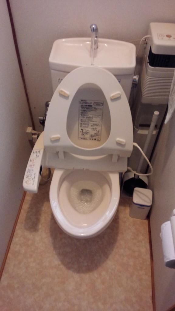 トイレ 洗浄後