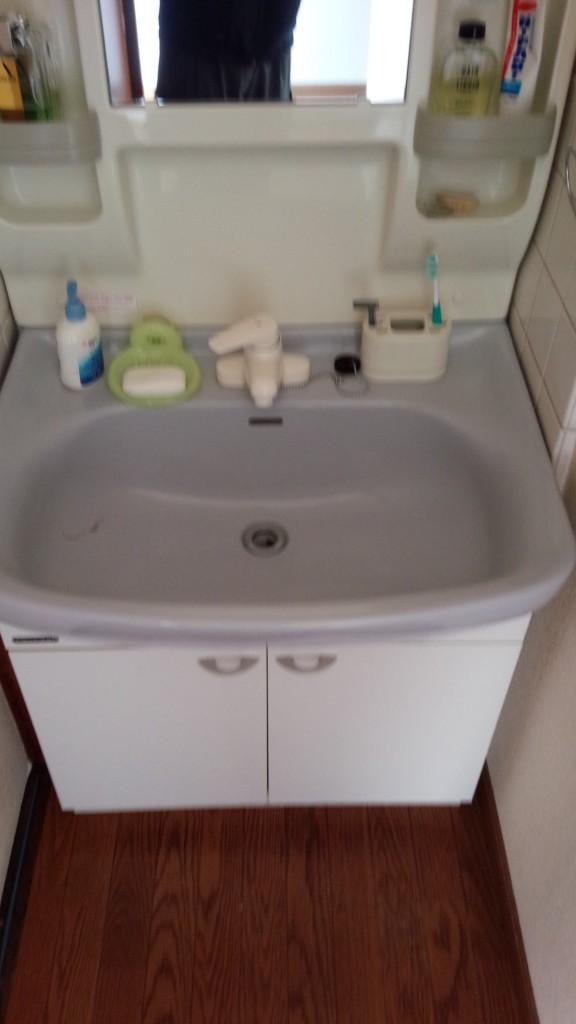洗面台 洗浄後 1