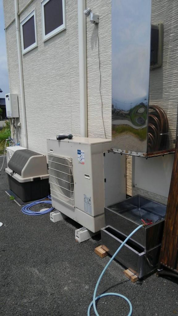 エアコン室外機の清掃