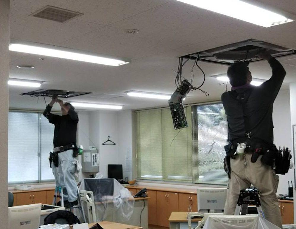 静岡県 駿河区 オフィスの業務用エアコンクリーニング
