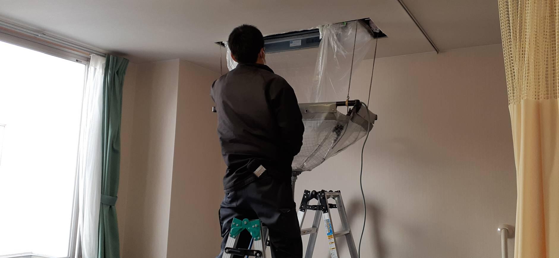 エアコンクリーニング及び室外機の簡易洗浄