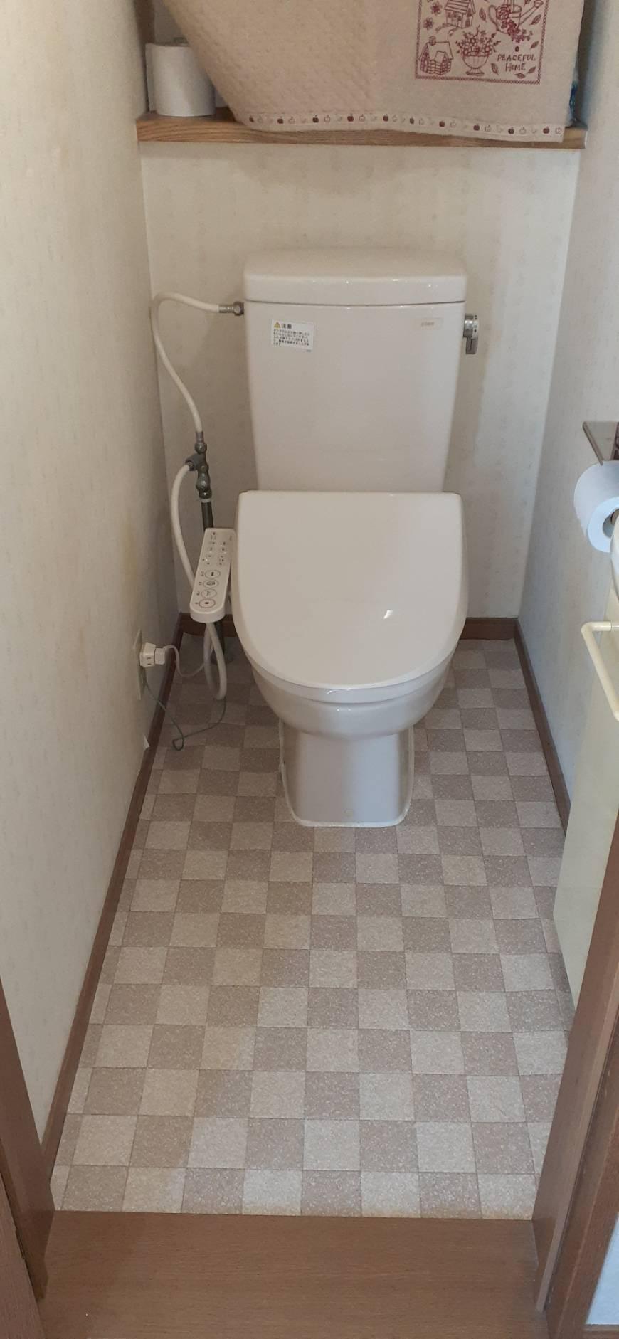 よくある節水トイレのつまり除去